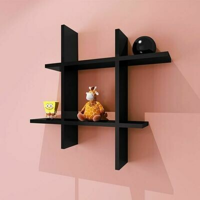Modern Decor Shelf #Square Black