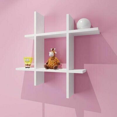 Modern Decor Shelf #Square WHITE