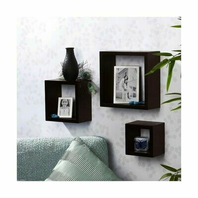 Modern Decor 3 Boxes Shelfs Black