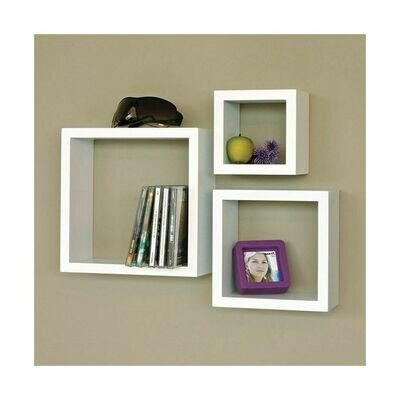 Modern Decor 3 Boxes Shelfs White