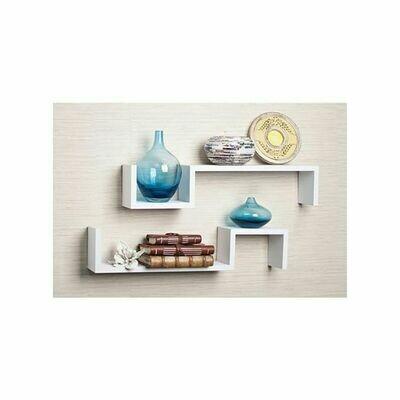 Modern Decor Shelf - 80 Cm - White - 2 Pcs