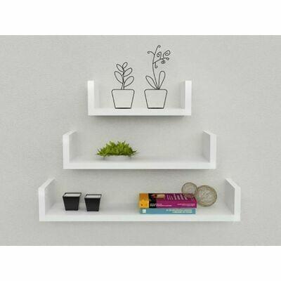 Decor U Shelf-white 3 pcs