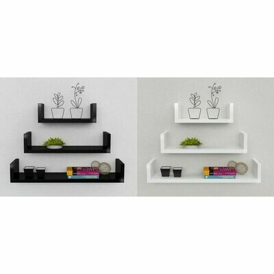 Decor U Shelf- Black & white