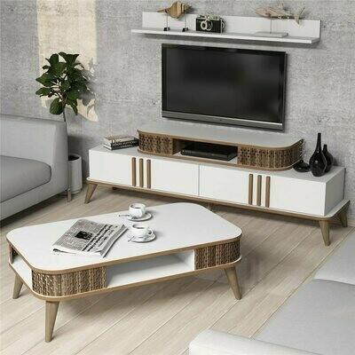 Ottoman TV unit & Center Table Set