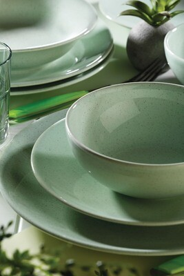 Naturaceram Harlek Granule 24 Piece Green Dinnerware Set