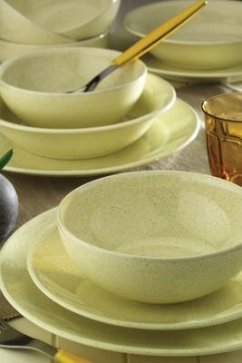 Naturaceram Harlek Granule 24 Piece Beige Dinnerware Set
