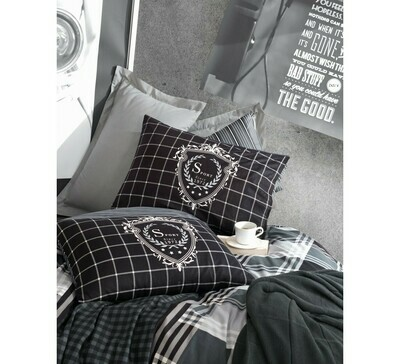 Bed Cover set 4-Piece Ramos Anthracite