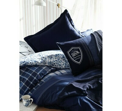 Bed Cover set 4-Piece Pablo Navy Blue