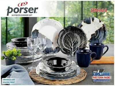 PORSER PORCELAIN DINNER SET OF 30 PIECES DN464