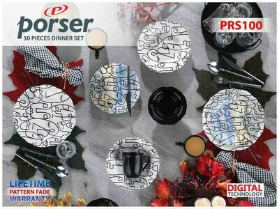 PORSER PORCELAIN DINNER SET OF 30 PIECES PRS100