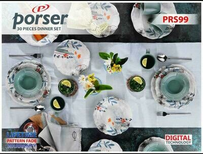 PORSER PORCELAIN DINNER SET OF 30 PIECES PRS99