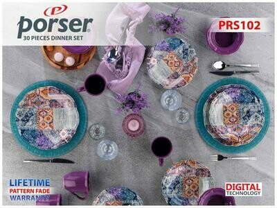 PORSER PORCELAIN DINNER SET OF 30 PIECES PRS102