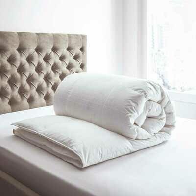 Duvet Cover Set - 3 Pieces - Satin - Caro - White