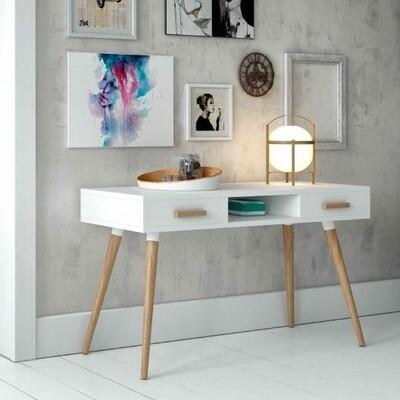 White Console/Nordic style desk