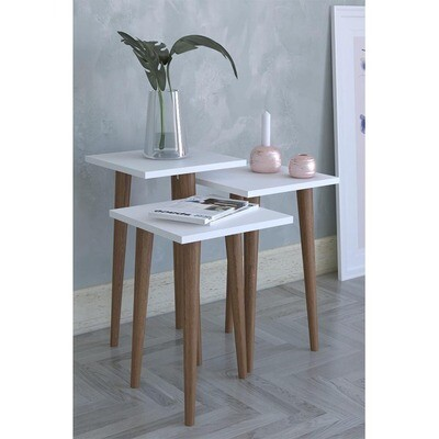 Wooden Square Side Tables