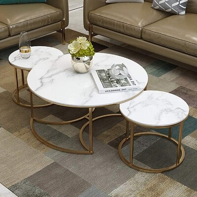 3 Nesting Tables - Gold