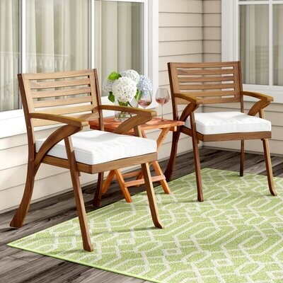Patio Dining Chairs with Cushion (Set of 2)
