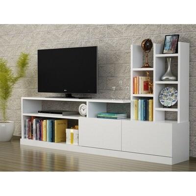 Multi-purpose TV Unit with bookcase