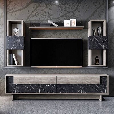 New Marbella TV Unit with shelves