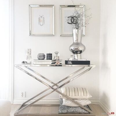 Modern Console Stainless steel with glass