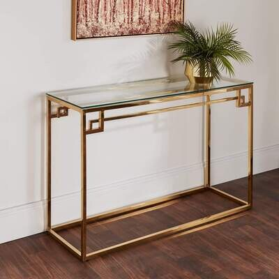 Greek Console Golden Stainless steel