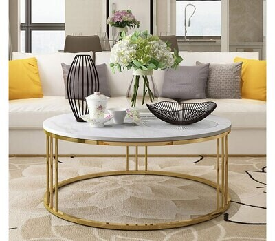 Coffee table Golden Stainless steel