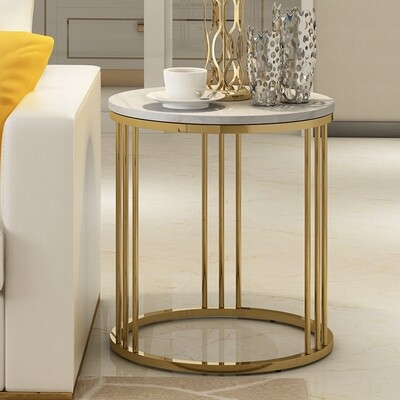 Side table Golden Stainless steel