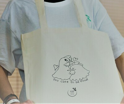 Βαμβακερή τσάντα -too cute to be food-