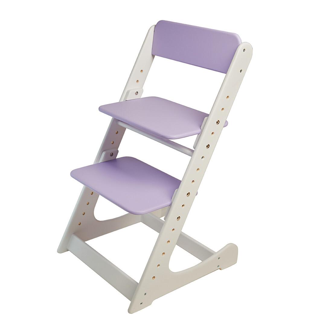 Растущий стул, бело-фиолетовый