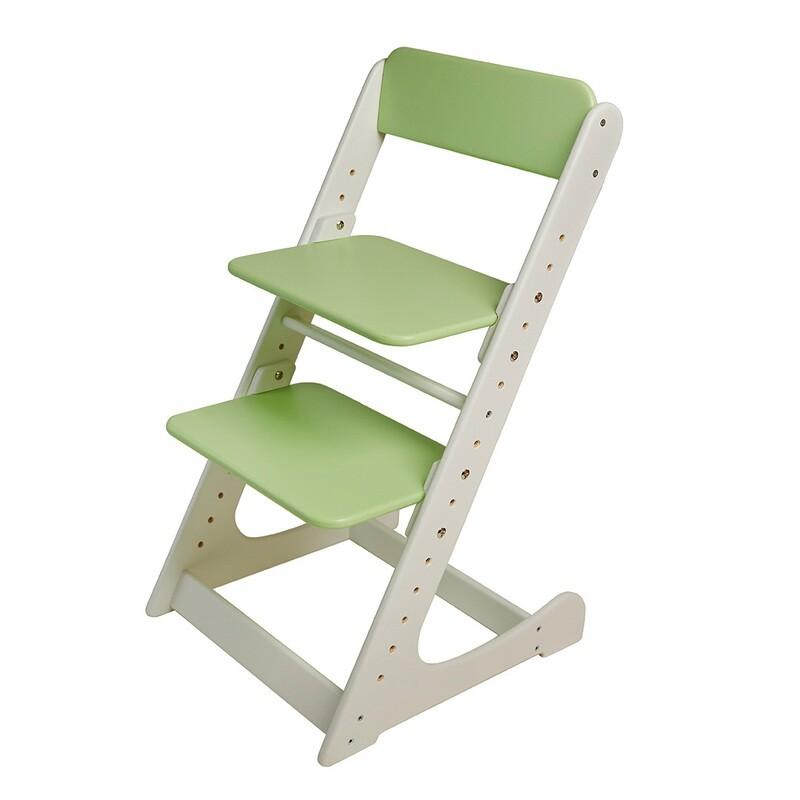 Растущий стул, бело-салатовый