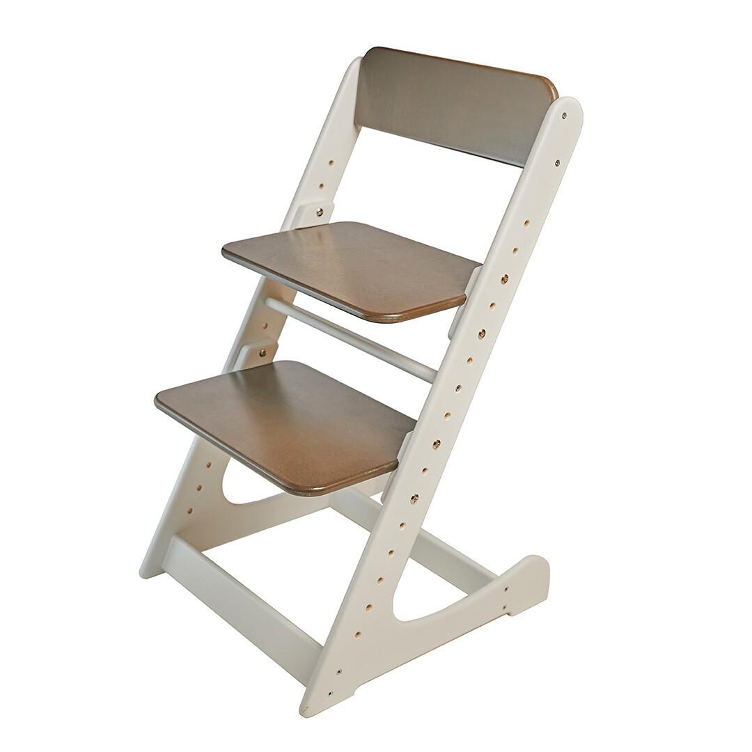 Растущий стул, бело-венге