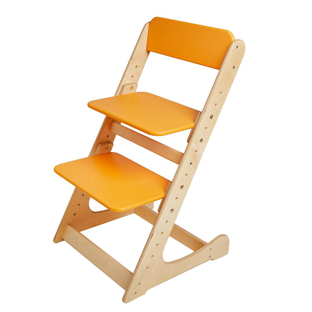 Растущий стул, натурально-оранжевый