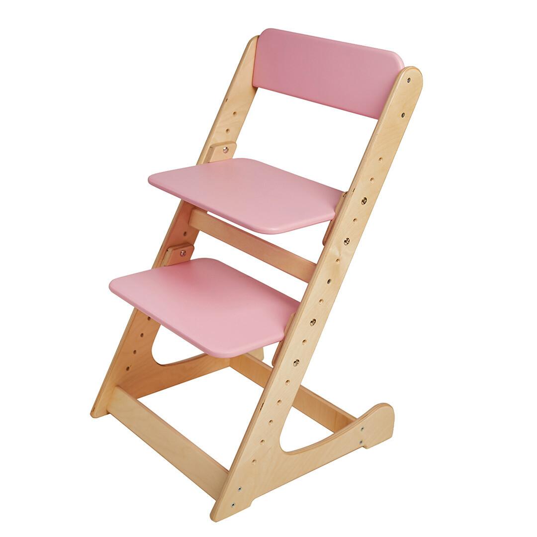 Растущий стул, натурально-розовый