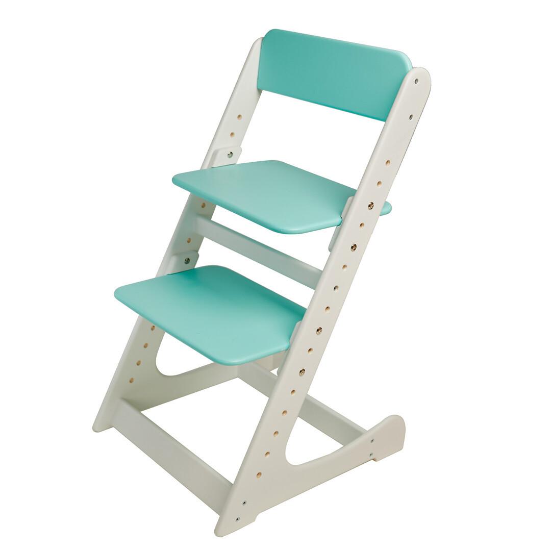 Растущий стул, бело-мятный