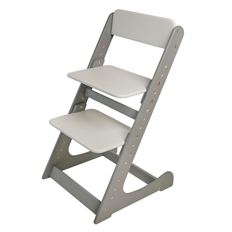 Растущий стул, серо-белый