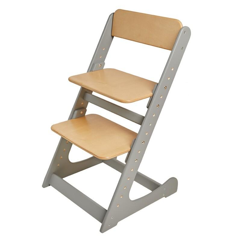 Растущий стул, серо-ореховый