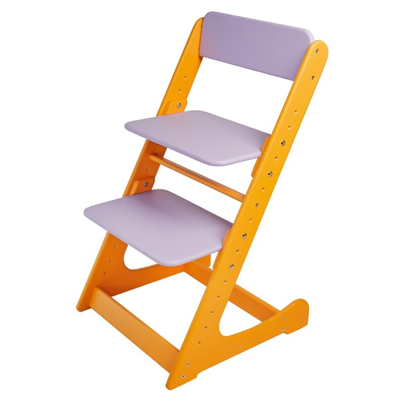Растущий стул, оранжево-фиолетовый