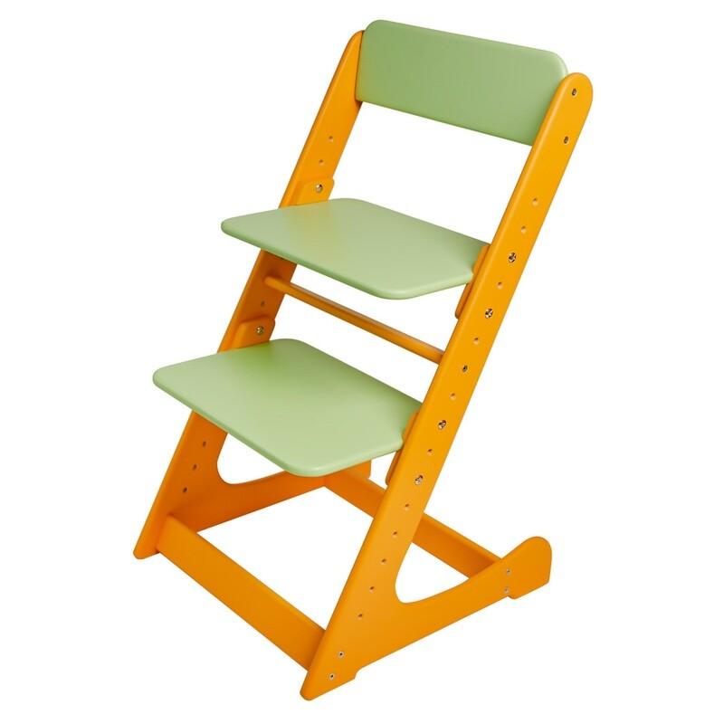 Растущий стул, оранжево-салатовый