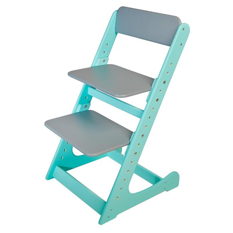 Растущий стул, мятно-серый
