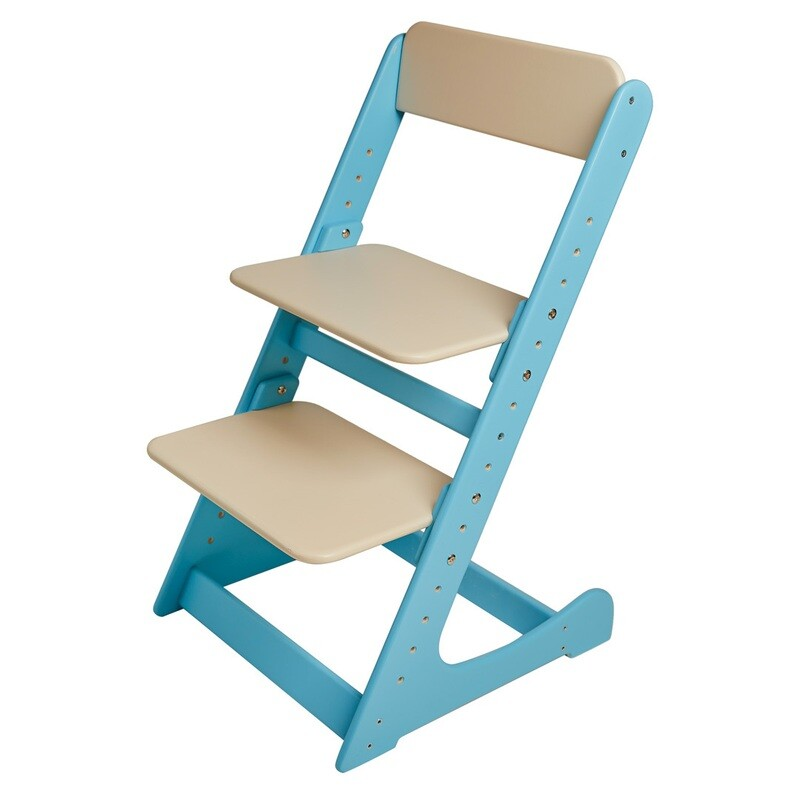 Растущий стул, голубо-кремовый