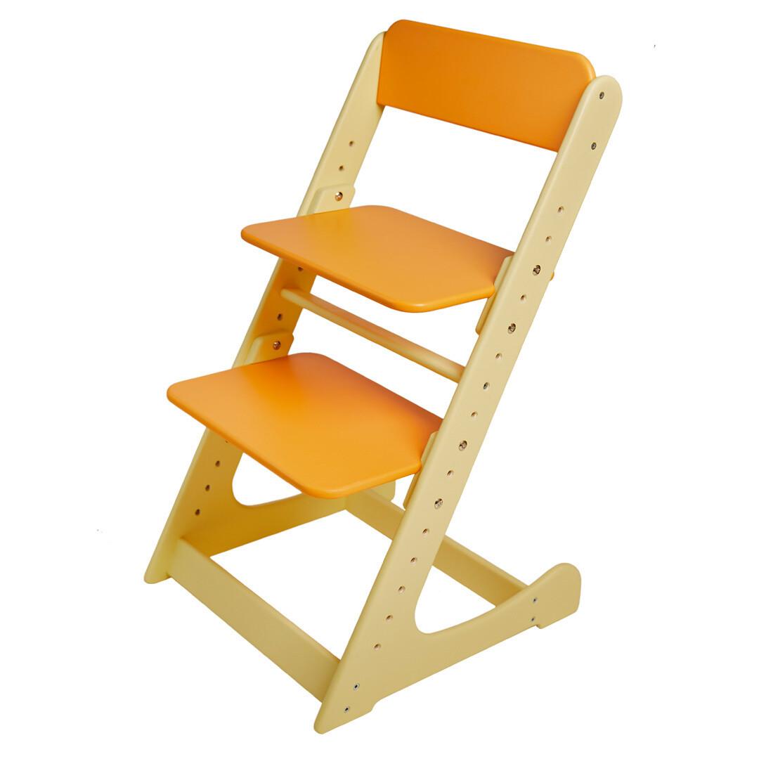Растущий стул, кремово-оранжевый