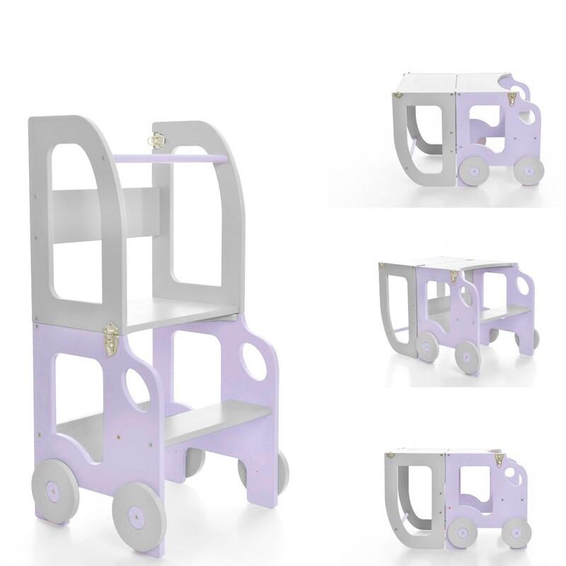 Башня помощника, бело-фиолетовый