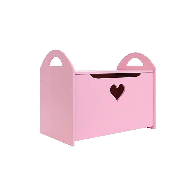 Детский сундук с сердечком, розовый