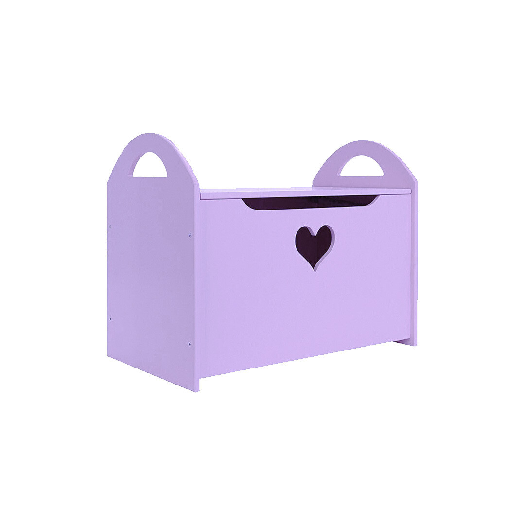 Детский сундук с сердечком, фиолетовый