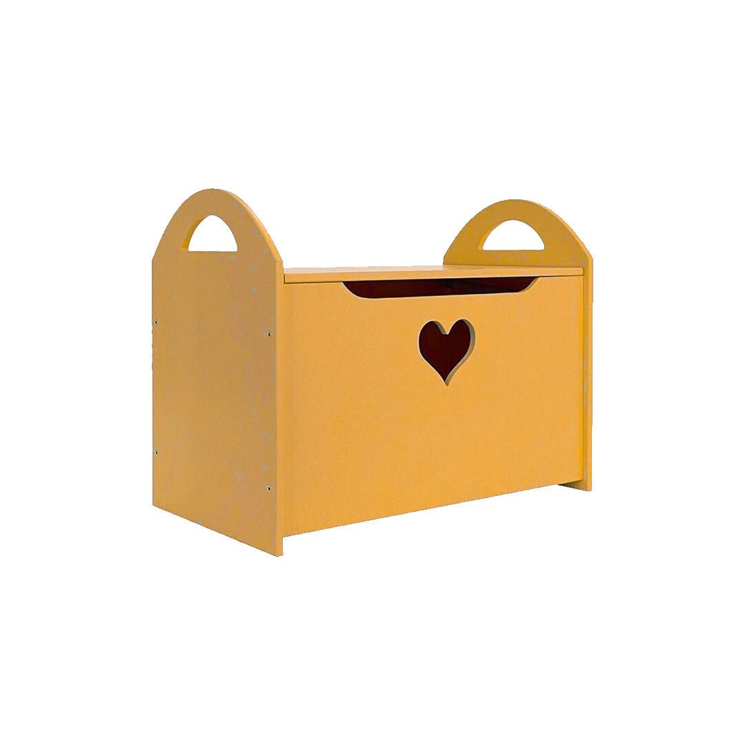 Детский сундук с сердечком, оранжевый