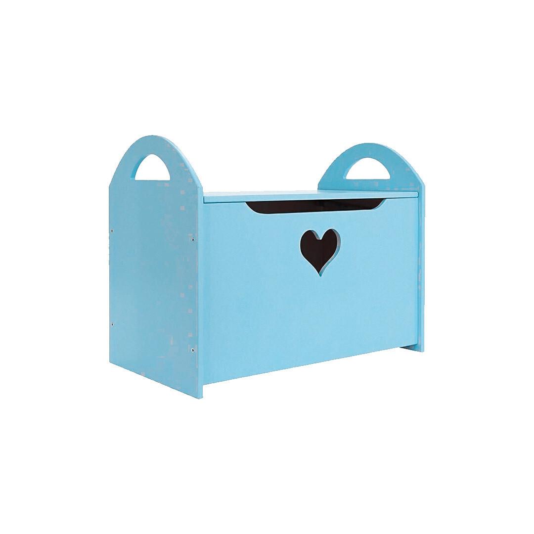 Детский сундук с сердечком, голубой