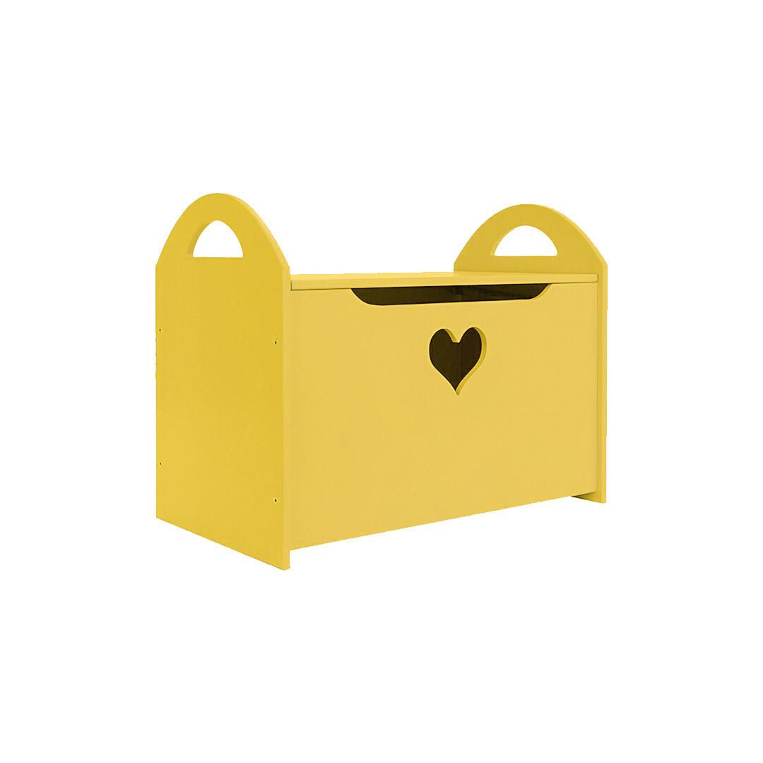 Детский сундук с сердечком, желтый