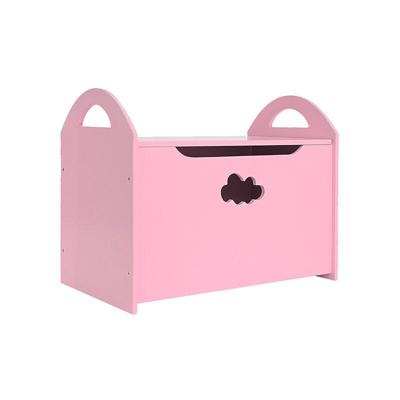 Детский сундук с облачком, розовый