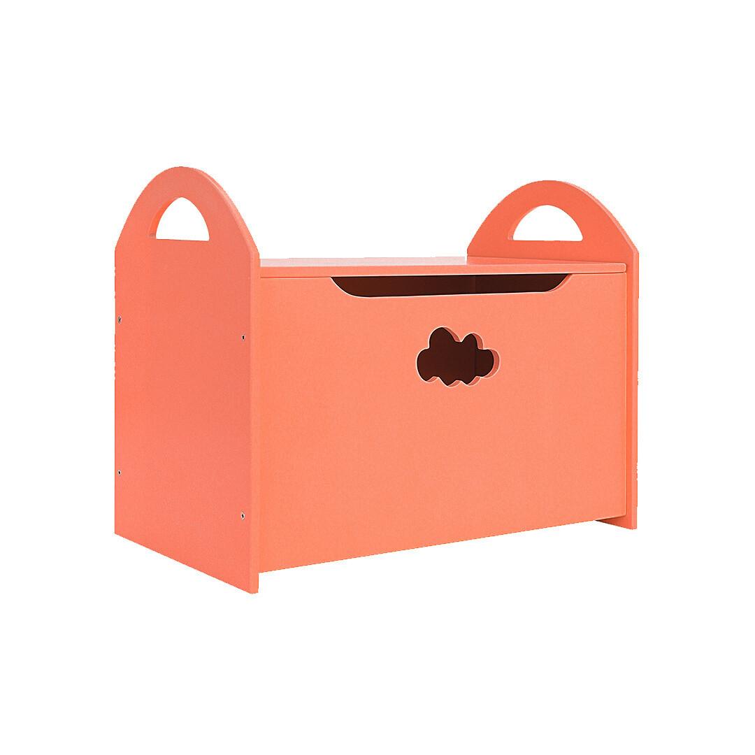 Детский сундук с облачком, оранжевый