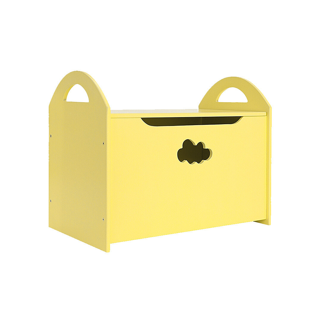 Детский сундук с облачком, желтый